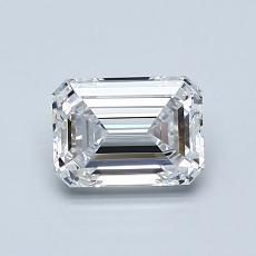 0.90-Carat Emerald Diamond Very Good D VVS1