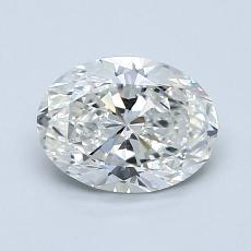 1.00-Carat Oval Diamond Very Good G VS2