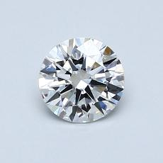 0,60 Carat Rond Diamond Idéale D VVS2