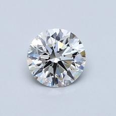 0,61 Carat Rond Diamond Idéale F IF