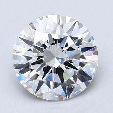 2.00 Carat 圆形 Diamond 理想 E VVS2