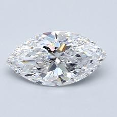 0.90-Carat Marquise Diamond Very Good D VS2