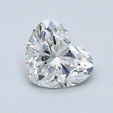 1.00 Carat 心形 Diamond 非常好 F VVS1