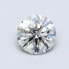 0,71 Carat Rond Diamond Idéale I SI2