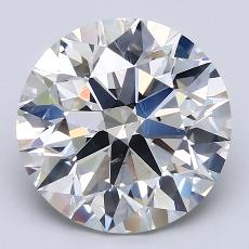 4.12-Carat Round Diamond Ideal I SI1