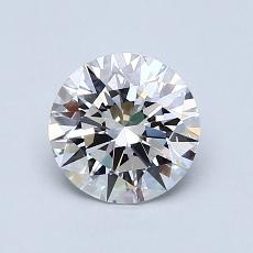 1.01-Carat Round Diamond Ideal E VVS1