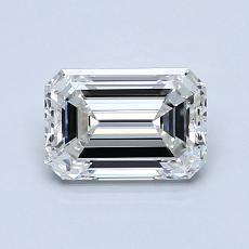 1,00 Carat Émeraude Diamond Très bonne I VVS2