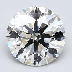 3.00-Carat Round Diamond Ideal J VVS2