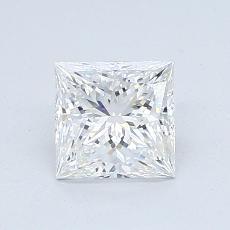 推荐宝石 4:1.00 克拉公主方形钻石