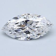 1.01 Carat 榄尖形 Diamond 非常好 D IF