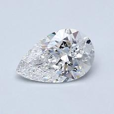 0,70-Carat Pear Diamond Very Good D VS1
