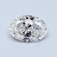 0.70 Carat 橢圓形 Diamond 非常好 G SI1
