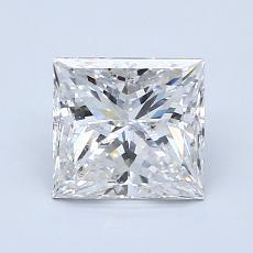 1.51 Carat Princesa Diamond Muy buena G SI2