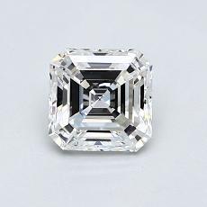 0.72-Carat Asscher Diamond Very Good F VVS1