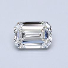 0,70 Carat Émeraude Diamond Très bonne F VVS1