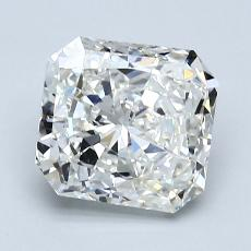 Pierre cible: Diamant taille radiant 2,06 carats