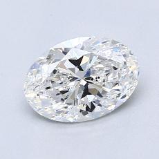 1.04-Carat Oval Diamond Very Good D IF
