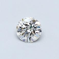 0.40-Carat Round Diamond Ideal J SI2