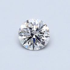 0.42-Carat Round Diamond Ideal H VS1