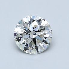 0.80-Carat Round Diamond Ideal I VVS2