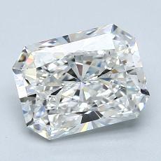 Pierre recommandée n°3: Diamant taille radiant 2,00 carats