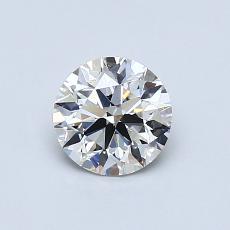 0.70-Carat Round Diamond Ideal I VS2