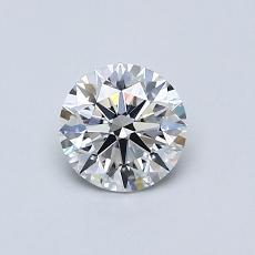 0.60-Carat Round Diamond Ideal F VVS2