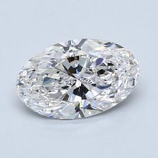 1.01-Carat Oval Diamond Very Good D VS1