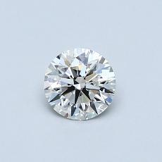 0,40-Carat Round Diamond Ideal I VVS1