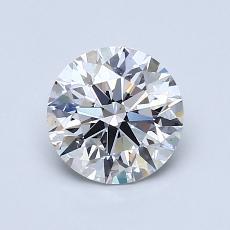 1.05-Carat Round Diamond Ideal D VS2
