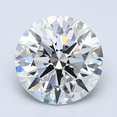 2.01 Carat 圆形 Diamond 理想 I VS2