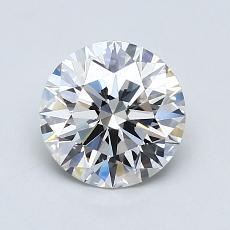 1.12-Carat Round Diamond Ideal F VVS2