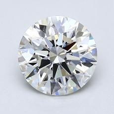 1.50-Carat Round Diamond Ideal H VVS2