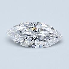 推薦鑽石 #4: 0.52  克拉欖尖形切割鑽石