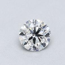 0.50-Carat Round Diamond Good F SI2
