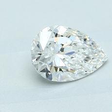 Piedra recomendada 1: Diamante en forma de pera de1.01 quilates
