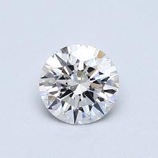 0.52-Carat Round Diamond Ideal D FL