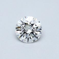 0,42-Carat Round Diamond Ideal D FL