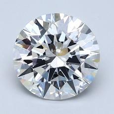 2.01-Carat Round Diamond Ideal D VVS1