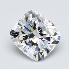 1.51-Carat Cushion Diamond Very Good D VVS2