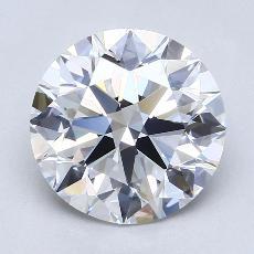 3,01-Carat Round Diamond Ideal D VVS1