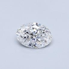 推荐宝石 4:0.41克拉椭圆形切割钻石