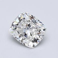 1.01-Carat Cushion Diamond Very Good F IF
