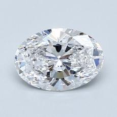 1.01 Carat 椭圆形 Diamond 非常好 D IF