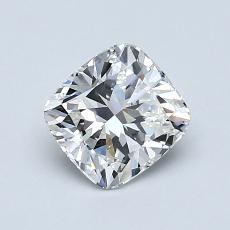 1.00-Carat Cushion Diamond Very Good F VVS1