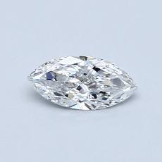 0.33-Carat Marquise Diamond Very Good E VVS2
