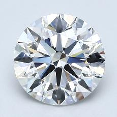 1.82-Carat Round Diamond Ideal F VVS2