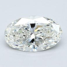 1.02 Carat 椭圆形 Diamond 非常好 H VVS1