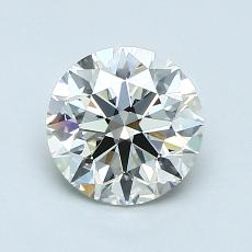 1,00-Carat Round Diamond Ideal J VVS1