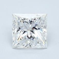 1.20-Carat Princess Diamond Very Good E VVS2
